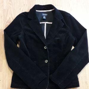 American Eagle Outfitters black corduroy blazer